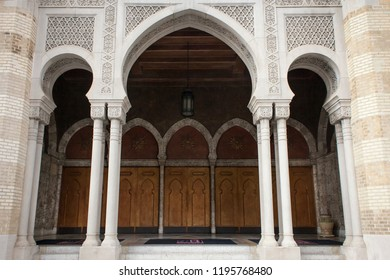 Atlanta, Georgia, USA – July 28, 2015: Part of the Oriental style lateral façade of the Fox Theater
