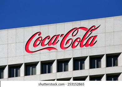 ATLANTA - JANUARY 25: The Coca-Cola World Headquarters building located in Atlanta, Georgia on January 25, 2015. The Coca-Cola Company is an American multinational beverage manufacturer.