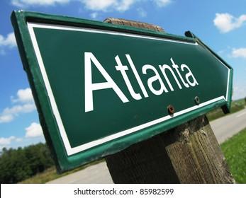 Atlanta road sign