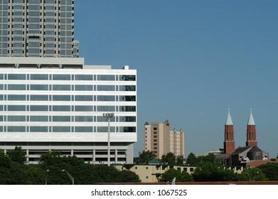 Atlanta Skyline with Church Steeples
