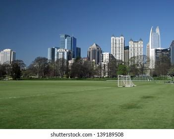 Atlanta skyline as seen from Piedmont Park