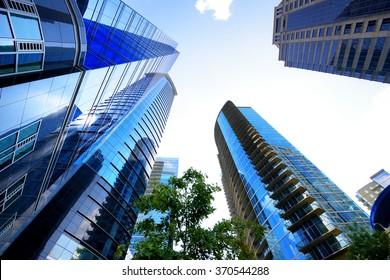 Atlanta skyscrapers from below, Georgia