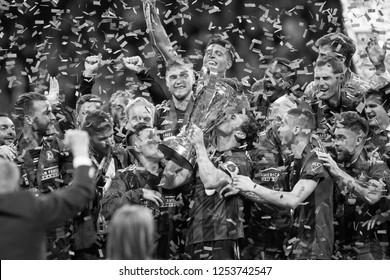 Atlanta United Celebration - MLS Championship - Atlanta United FC Vs. Portland Timbers FC in Atlanta Georgia USA Mercedes Benz Stadium December 08th 2018