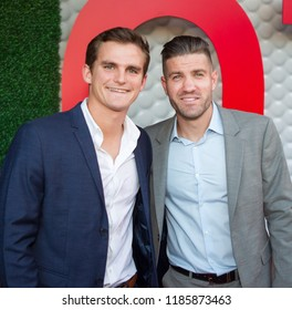Atlanta United Players Mikey Ambrose and Greg Garza - Tee Up Atlanta at the College Football Hall of Fame in Atlanta Georgia - USA , September 17th 2018- The Tour Championship PGA Tour golfers