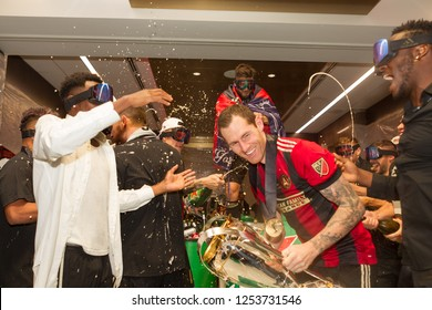 Atlanta United Team Celebration - MLS CUP - 12-08-2018 Atlanta United FC Vs. Portland Timbers FC in Atlanta Georgia Mercedes Benz Stadium