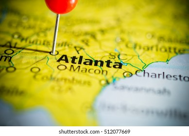 Atlanta Map Images, Stock Photos & Vectors | Shutterstock on