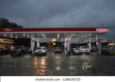 Atlanta,GA/USA November 24,2017: Exxon Retail Gas Location. Exxon Mobil is the World's Largest Oil and Gas Company
