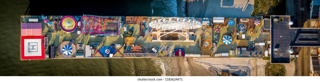 Atlantic city board walk aerial panorama  view New Jersey USA