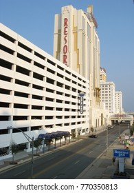 Atlantic City, New Jersey aug 21, 2015 - Resorts and boardwalk in Atlantic City, New Jersey.