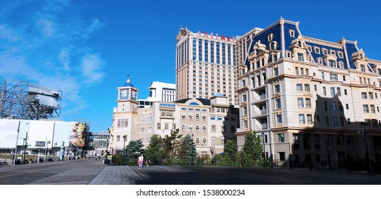 Atlantic City, New Jersey - May 31, 2019: Caesars Casino Resort Atlantic City