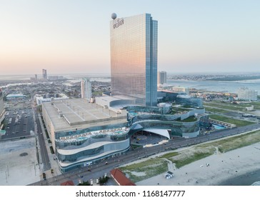 Atlantic City, New Jersey / USA - August 28, 2018: Aerial view of Ocean Resort Casino in Atlantic City