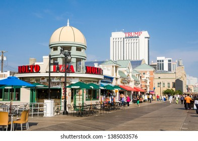 ATLANTIC CITY, NEW JERSEY, USA - OCTOBER Boardwalk in Atlantic city, United states.