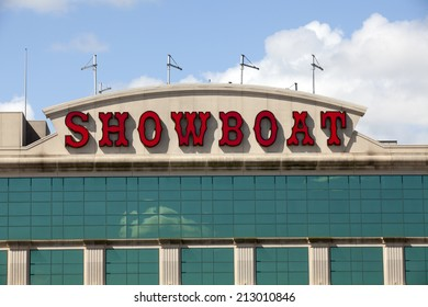 Atlantic City, New Jersey, USA - August 24, 2014:The Showboat Casino in Atlantic City, New Jersey is 1 of 3 casinos that is closing ant the end of the summer picture taken on August 24, 2014