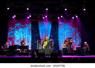 ATLANTIC CITY, NJ - APRIL 25: Jazz guitar player George Benson performs on stage at the Atlantic City Hilton April 25th, 2009 in Atlantic City, NJ