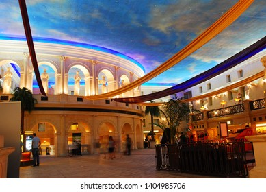 Atlantic City, NJ, USA August 16, 2010 The interior of Caesar's Casino in Atlantic City, New Jersey is decorated in an Ancient Roman theme