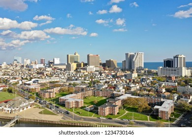 Atlantic City N.J/USA/Oct. 22 , 2018: Aerial  view of Atlantic city New Jersey.