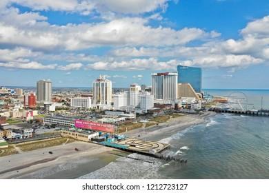Atlantic City N.J/USA/Oct 23, 2018: Aerial view of Atlantic City New Jersey.