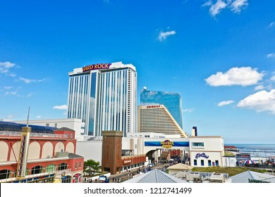 Atlantic City N.J/USA/Oct. 23, 2018: Aerial view of the city of Atlantic City New Jersey.