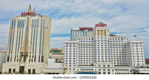 Atlantic City N.J/USA/Oct 4, 2108: Aerial view of Atlantic City's first casino. It opened up in 1978.