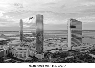Atlantic City N.J/USA/Sept. 22, 2018: Aerial View of the Borgata Hotel & Casino in Atlantic city N.J.