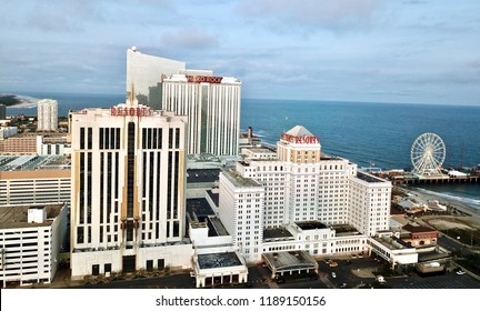 Atlantic City N.J/USA/Sept. 22 ,2018; Aerial view of Atlantic City casinos.