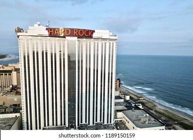 Atlantic City N.J/USA/Sept. 22 ,2018; Aerial view of Atlantic City casinos.