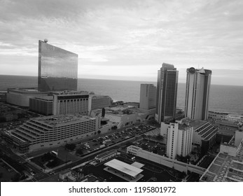 Atlantic City N.J/USA/Sept. 22 2018; Aerial View of Atlantic City skyline in New Jersey.