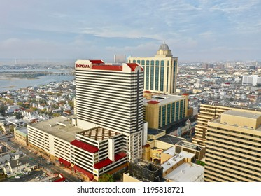 Atlantic City N.J/USA/Sept. 33 2018; Aerial view of the Tropicana Hotel & Casino in Atlantic City N.J.