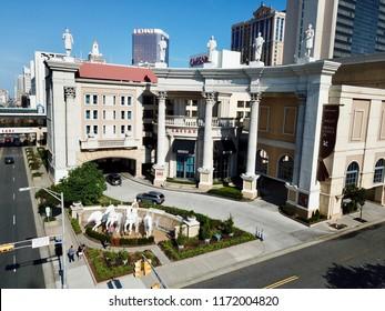 Atlantic City, NJ/USA/Sept. 4, 2018: Ariel view of Caesar Hotel and Casino in Atlantic city N.J.