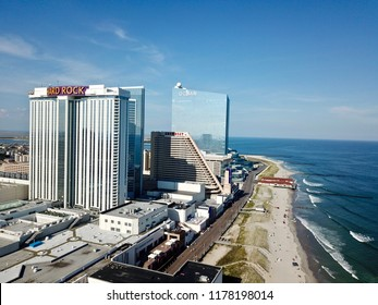 Atlantic City N.J/USA/Sept. 7, 2018: Hard Rock casino & Ocean Resorts in down town Atlantic City N.J.