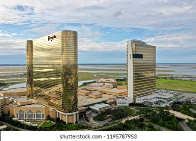 Atlantic City N.J/USA/Sept.24, 2018: Aerial view of the Borgata Hotel & Casino in Atlantic City N.J.
