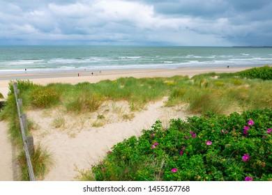 Atlantic coast in Blankenberge, Flanders, Belgium
