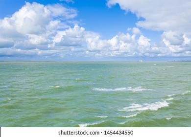 Atlantic coast in Flanders near Blankenberge, Belgium