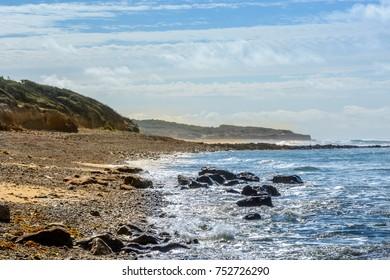 Atlantic coast at Jard-sur-Mer, department Vendee, france