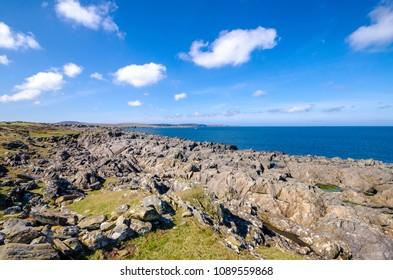 Atlantic coast line landscape in Ireland
