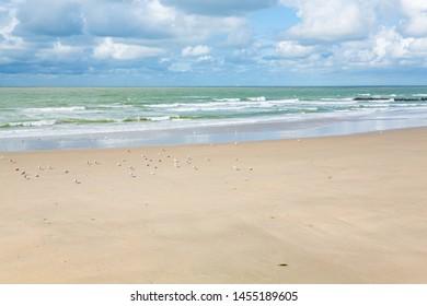 Atlantic coast near Blankenberge in Flanders, Belgium