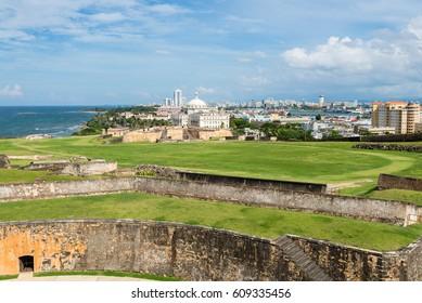 Atlantic coast in San Juan, Puerto Rico