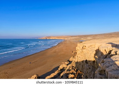The Atlantic coastline along the road to Agadir, Morocco