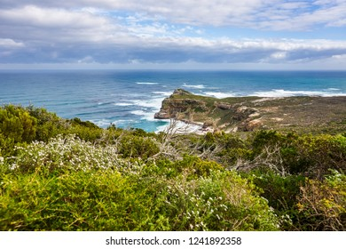 Atlantic and Indian ocean coast in South Africa with the Dias beach and Cape of Good Hope.