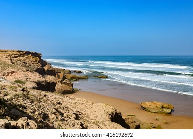 atlantic ocean beach near agadir in morocco