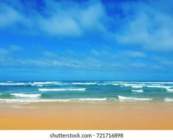 Atlantic Ocean beach in Portugal