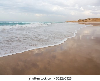 Atlantic Ocean in Dakhla, Western Sahara region of Morocco