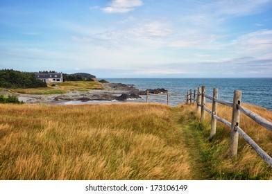 Atlantic Ocean Shoreline View from Point Michaud, Cape Breton, N