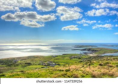 Atlantic Ocean View from County Galway, Ireland
