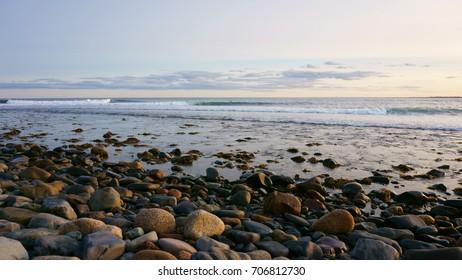 atlantic ocean view in east coast canada