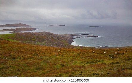 Atlantic Ocean view from the Ring of Kerry, Ireland