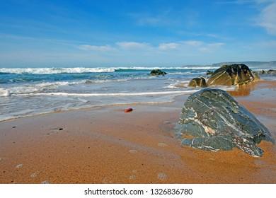 Atlantic Ocean at the westcoast in Portugal