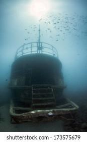 Atlantic Princes Shipwreck sunk in Bayahibe, Dominican Republic in 2011.