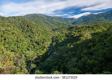 Atlantic Rainforest view from Mirante do Ultimo Adeus in Itatiaia National Park, Rio de Janeiro, Brazil