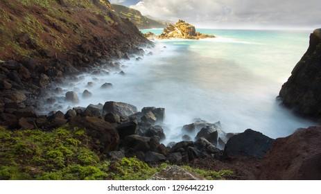 Atlantic shore, Island of La Palma, Canary Islands, Spain